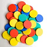 #4: 100 Colorful 1inch or 25mm Circular 8mm Thick Hard Foam Counters : for Counting, Addition, Subtraction,etc, in Plastic Box - Numeracy Teaching Supplies