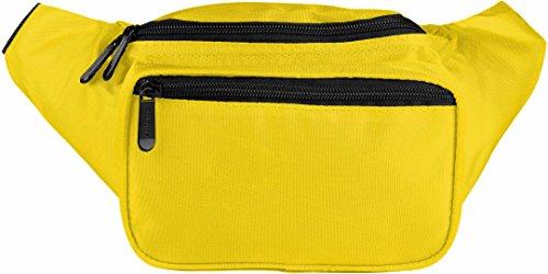 Riñonera grande amarilla para viajar