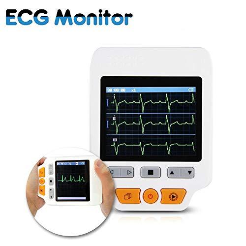 ZYFWBDZ 180d Farbe Tragbarer EKG-Monitor Herzfrequenzmesser Schneller EKG-Detektor Mit EKG-Kabel und EKG-Elektrode