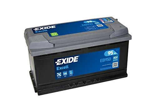 Exide Excell EB950, batteria auto pronto all'uso, non necessita di manutenzione, 95 Ah