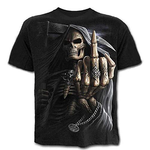 Talla M - C02 - T-Shirt - Camiseta - 3D - Mangas Cortas - Hombre...