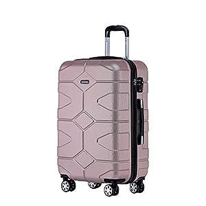 BEIBYE – TSA Schloß 2035 Hartschale Reisekoffer Koffer Handgepäck Trolley (Diamonblau, XL)