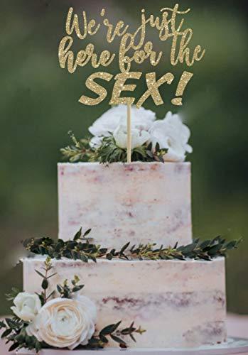 erade Hier f¨¹r das Geschlecht Sex offenbaren Cake Topper niedlichen Cake Topper lustige Geschlecht offenbaren Cake Topper Gold Cake Topper Babyparty ()