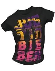 Tee Shirt Femme Noir Justin Bieber Taille S