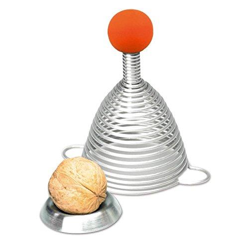 Take2 Edelstahl Nussknacker NAOMI mit Orange Gummikugel