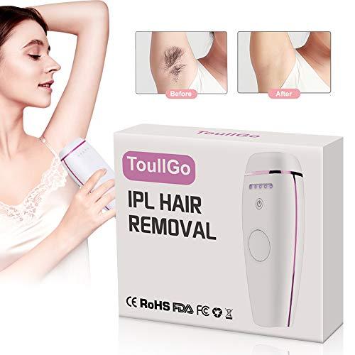 IPL-Haarentfernung, permanente Haarentfernung, gepulster Licht-Epilierer für 500.000 Pulsationen zur Haarentfernung, permanent mit Hautsensor für zu Hause und auf Reisen, für Frauen und Männer