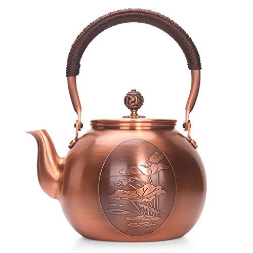 CXQ Chinesischen Stil Retro Style Cast Kupfer Teekanne Haushalt Große Kapazität Elektrische Keramikkocher Wasserkocher Lotus Brennen Teekanne Heben Strahl Griff