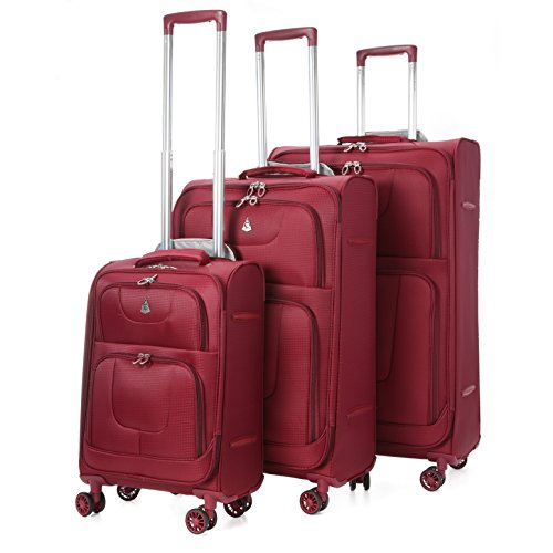 aerolite-super-lightweight-8-wheel-spinner-luggage-suitcase-travel-trolley-cases-3-pcs-wine
