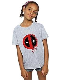 Marvel niñas Deadpool Split Splat Logo Camiseta