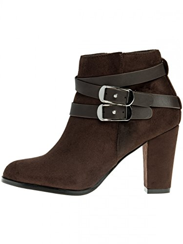 Damen Ankle Boots SBO051 Dunkelbraun