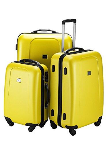 HAUPTSTADTKOFFER · Sets de bagages · (42;67;103 liters) · Serrure TSA · en différentes couleurs (Jaune)