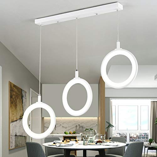 SGWH Lámpara colgante LED Lámpara de mesa de comedor moderna ...