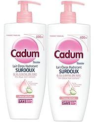 Cadum Lait Corps Hydratant Surdoux Huile d'Amandes Douces Format Familial 400 ml - Lot de 2