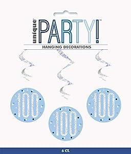 Unique Party- Adornos, Color blue & silver (83805)
