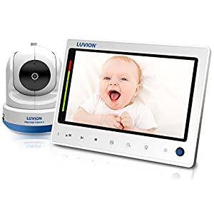 """Luvion Prestige Touch 2 - Mother&Baby Gold Award Winner - Large 7"""" LCD Video Baby Monitor, VOX Function, 2-Way Talkback, Remote Pan & Tilt - Connect up to 4 Cameras for Split Screen   5"""