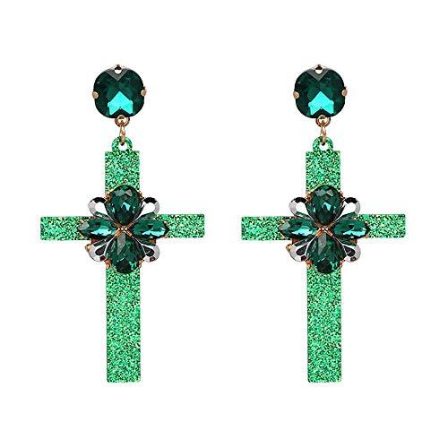 ce591f8e6404 Pendientes modelo Cruz santa con flor pendientes de bohemia para mujer –  Earrings model santa cruz with flower bohemian earrings for woman