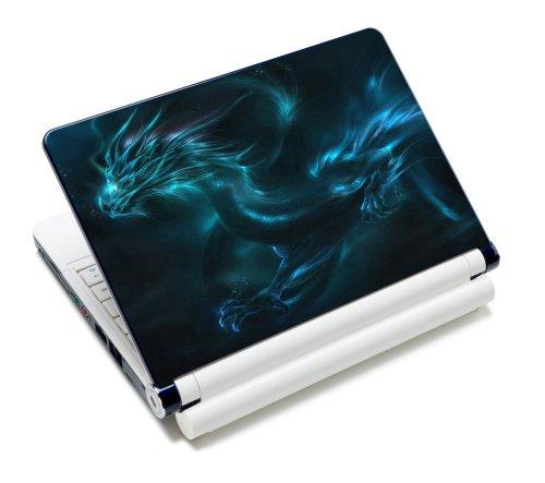 Luxburg® Design Aufkleber Schutzfolie Skin Sticker für Notebook Laptop 10 / 12 / 13 / 14 / 15 Zoll, Motiv: Fantasy Drache