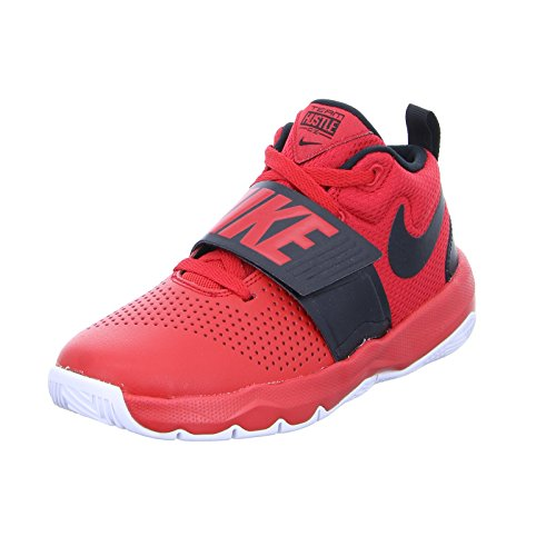 NIKE Team Hustle D 8 (GS), Chaussures de Basketball garçon, Multicolore (University Red/Black-White 602), 37.5 EU