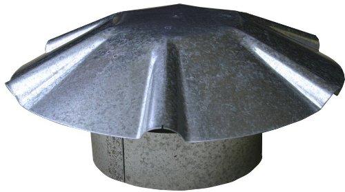 speedi-products ex-rcgu 1212Zoll Durchmesser verzinkt Regenschirm Dach Vent Gap - Verzinkt Vent