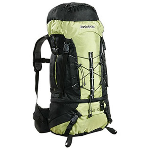 Imagen de aspensport trail   de senderismo 65 l , color verde y negro alternativa