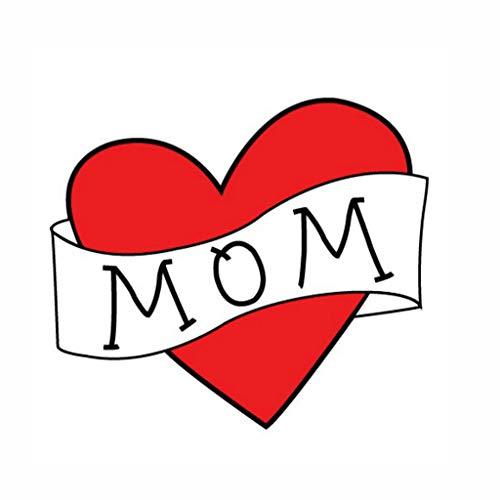 Tattoo Aufkleber Kind Baby Kinder - rotes Herz Tattoo Aufkleber - Mama & Papa - Fotografie Prop (12 MOM) ()