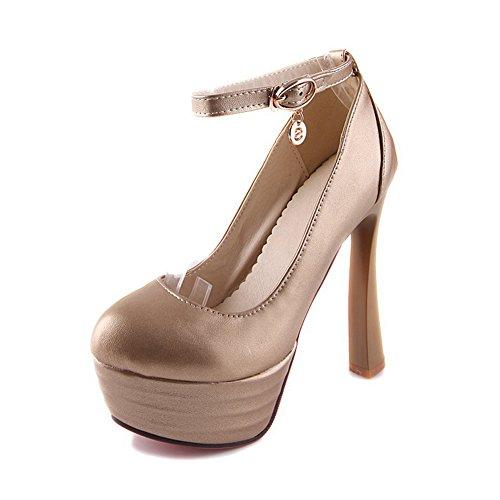 Balamasa Salt Pepper-chaussures À Talons Hauts Avec Des Chaussures Or Pompes