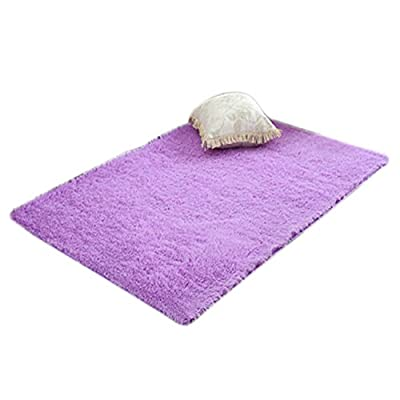 Home Parlor Bedroom Living Room Plush Mat Shaggy Soft Carpet Area Rug Slip Resistant Door Floor Carpet - inexpensive UK light shop.
