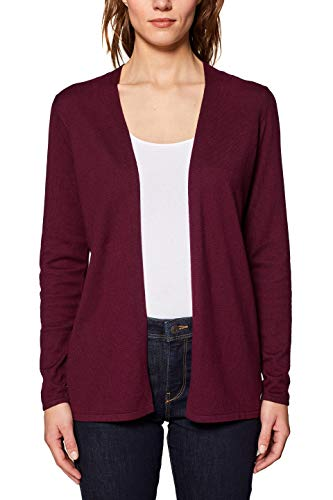 ESPRIT Damen 049EE1I004 Strickjacke, Rot (Bordeaux Red 600), Medium (Herstellergröße: M)