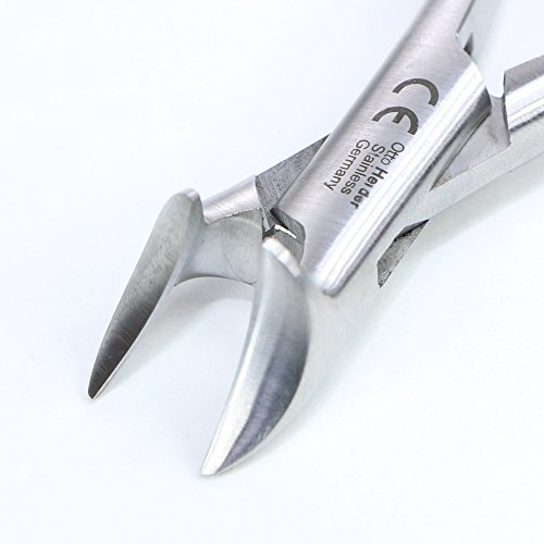 Diabetikerzange- Kopfschneider-Nagelzange für Diabetiker Fusspflege 14 cm rostfreier Edelstahl voller Kopf Otto Herder