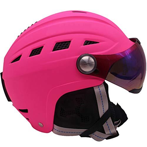 Marke Ski Helm/Goggles Mann/Frau / Kinder Snowboard Helm Fast Moto Bike Radfahren Klettern Maske Skateboard Snowmobile Sport Sicherheit Pink L 58-60cm