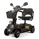 ACEDA Älterer Roller,Elektromobil,Faltbarer Elektrischer Roller, Behindertes Älteres Vierrädriges Elektrofahrzeug,Elektroroller,Belastbarkeit 140Kg,Gray