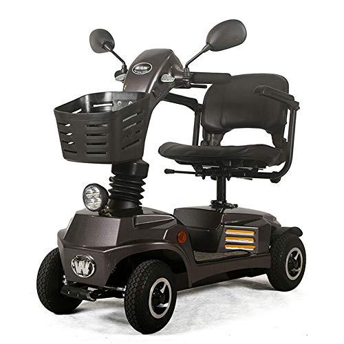 ACEDA Älterer Roller, Faltbarer Elektrischer Roller, Behindertes Älteres Vierrädriges Elektrofahrzeug,E-Mobil, Seniorenfahrzeug, Belastbarkeit 140Kg