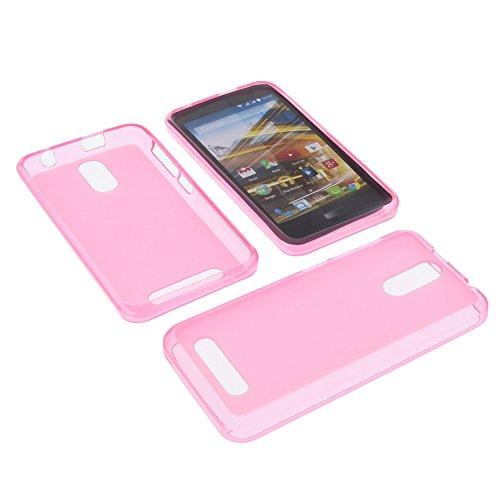 foto-kontor Tasche für Archos 45 Neon Gummi TPU Schutz Hülle Handytasche pink