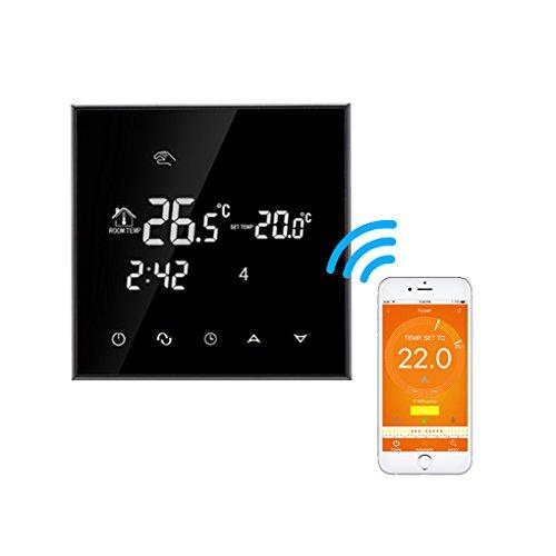 Kongnijiwa Wasser Fußbodenheizung Thermostat Wifi Programmierbare Temperaturregler LCD Display Touchscreen Thermostat -