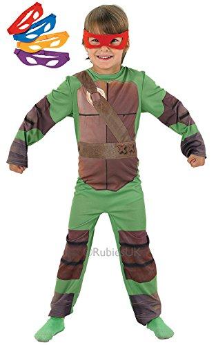 Boys Kids TMNT Teenage Mutant Ninja Turtles Super Hero Book Day Week Fancy Dress Costume All Ages VEX 886811 (3-4 years) by Fancy Pants Party (Boys Kostüme Tmnt)