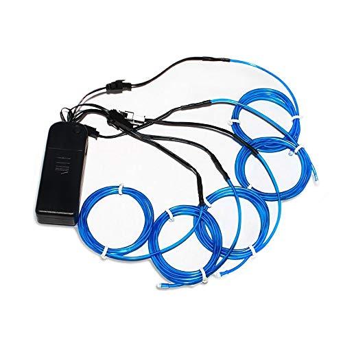 on Lights Kit mit tragbaren AA Akku Inverter für Halloween Weihnachten Party Dekoration blau ()