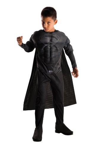 Kostüm Superman Man of Steel schwarz Kind (Man Of Steel Kinder Kostüm)