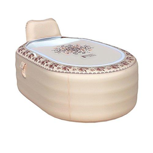 JCOCO Aufblasbare Folding Kunststoff Badewanne europäischen Hause Erwachsenen Kind Kind Bad Eimer Rutschfeste/komfortable/Nicht leicht verformt/bequem Lagerung (165 * 105 * 77 cm) -