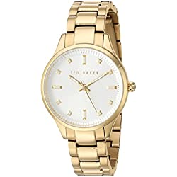 TED BAKER LADIES GOLD PLATED BRACELET WATCH