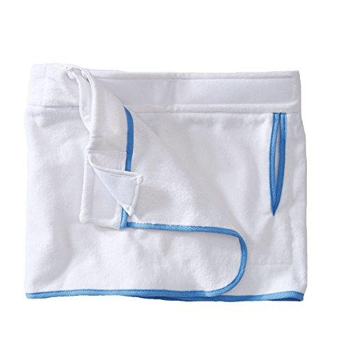 Sowel® Strandrock kurz für Damen, 100% Baumwolle mit Klettverschluss, Seitentasche, mehrere Farben Weiß/Blau