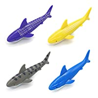 Akokie Dive Sticks, Swimming Pool Stick, Bath Water Toys Underwater Swim Beach Toy Shark Rocket Shape Throwing Torpedo for Kids 5 6 7 8 Years Old, Random Color