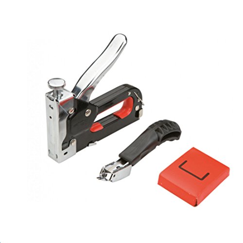Preisvergleich Produktbild Handtacker-Set 4-14 mm Klammergerät Tacker Handnagler Hefter Heftklammer Tackerset