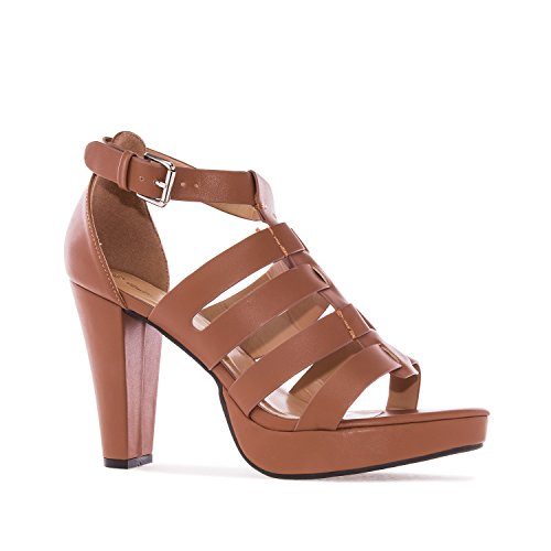Andres Machado - AM5160 - Sandalen Multi Riemen aus Soft in Beige AM5160 Braun