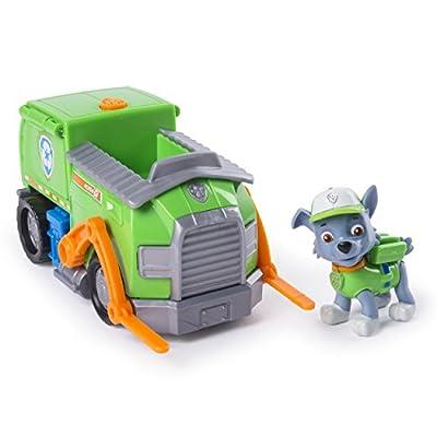 Paw Patrol Rocky Transforming recicla el camión con la figura de Spin Master