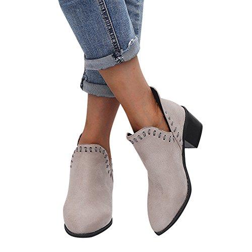 ❤️ Botas de Mujer de la Vendimia, señoras otoño Zapatos Tobillo sólido Romano Martin Botas Cortas Zapatos Solos Antumn Absolute