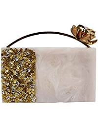 Marble With Sequins Work Clutches For Womens Party Wear Design 36