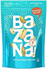 Bazana Roasted Salted Pistachios / Healthy Roasted Snack / Pista Dry Fruits / Roasted Nuts / Zero Oil Dry Nuts