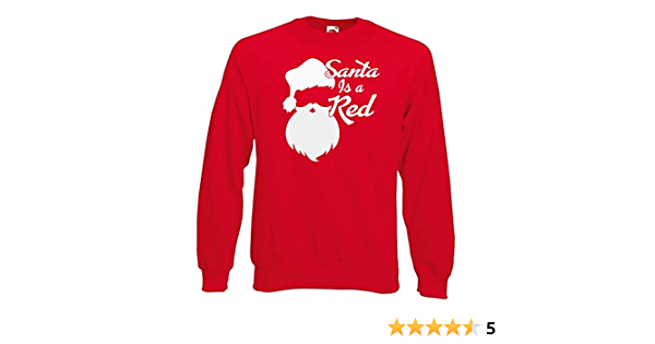 Unisex Red Santa Is A Red Christmas Liverpool Xmas T-Shirt
