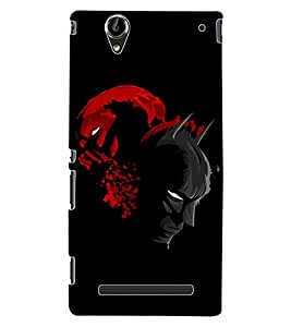 ColourCraft Mask Design Back Case Cover for SONY XPERIA T2 ULTRA