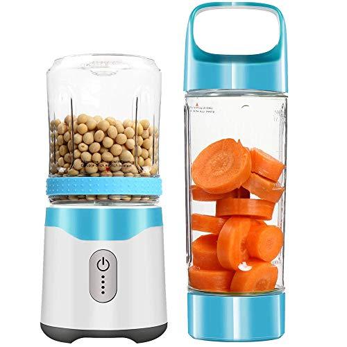 ZUHN Persönliche tragbare Mixer USB Juicer wiederaufladbare Travel Juice 6 Klingen Babynahrung Mixer Ice Smoothie,Blue
